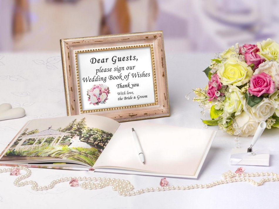 our wedding book of wishes with love is unique because unlike other books of this kind it does not only offer a nice cover and